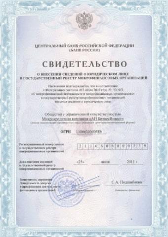 Slon финанс лицензия